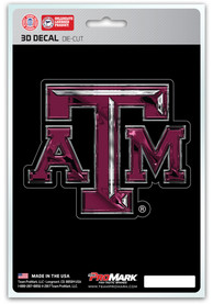 Texas A&M Aggies 5x7.5 3D Auto Decal - Maroon