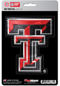Sports Licensing Solutions Texas Tech Red Raiders 5x7 inch 3D Auto Decal - Red