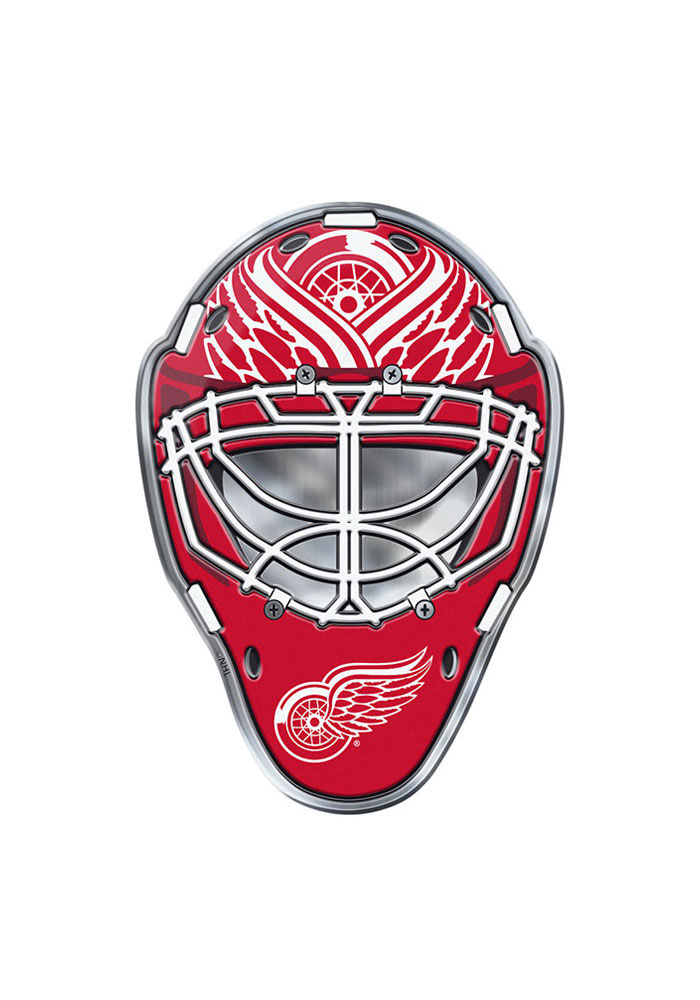 Detroit Red Wings Goalie Full Color Car Emblem - Red - Image 1