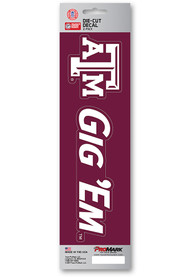 Texas A&M Aggies 3x12 Slogan Auto Decal - Maroon