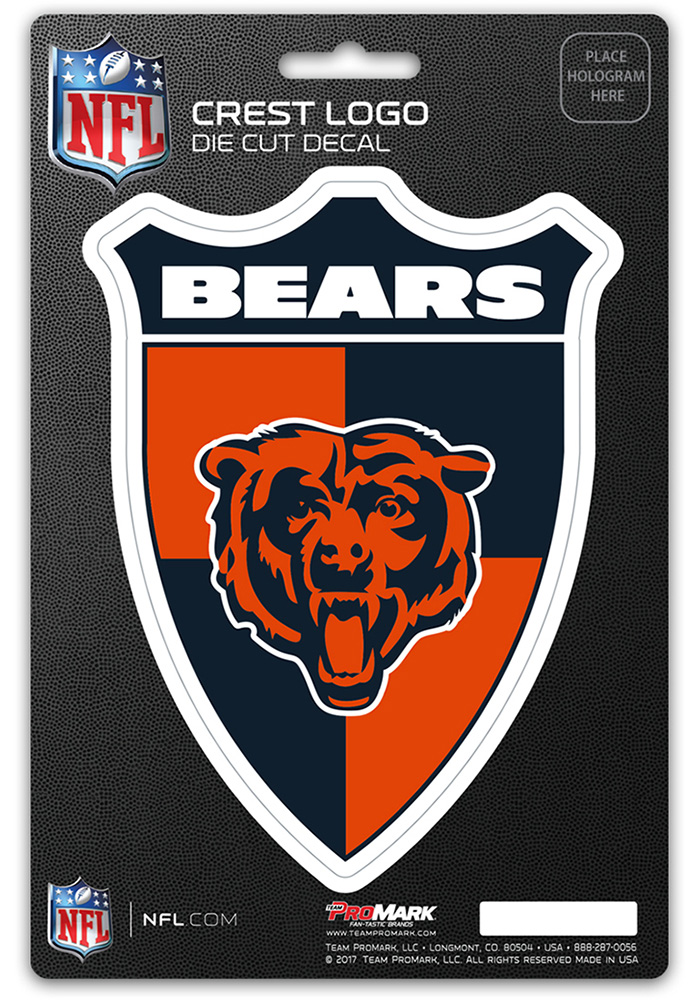 Chicago Bears 5x7.5 Shield Auto Decal - Navy Blue