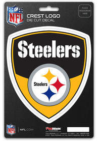 Pittsburgh Steelers 5x7.5 Shield Auto Decal - Black