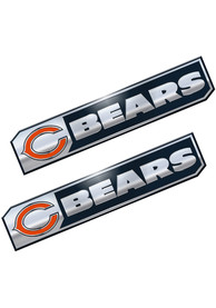 Sports Licensing Solutions Chicago Bears 1.75x8.25 inch 2 Pack Truck Edition Car Emblem - Navy Blue