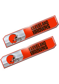 Sports Licensing Solutions Cleveland Browns 1.75x8.25 inch 2 Pack Truck Edition Car Emblem - Brown
