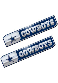Sports Licensing Solutions Dallas Cowboys 1.75x8.25 inch 2 Pack Truck Edition Car Emblem - Navy Blue
