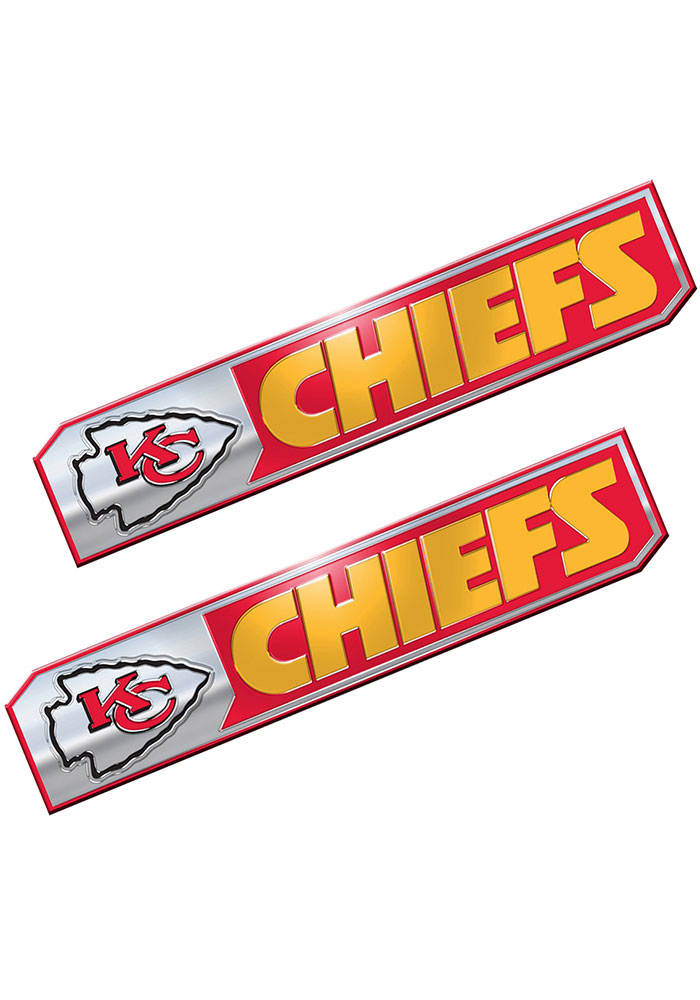 Sports Licensing Solutions Kansas City Chiefs 1.75x8.25 inch 2 Pack Truck Edition Car Emblem - Red - Image 1