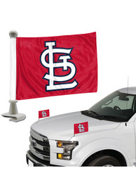 Sports Licensing Solutions St Louis Cardinals Team Ambassador 2-Pack Car Flag - Red
