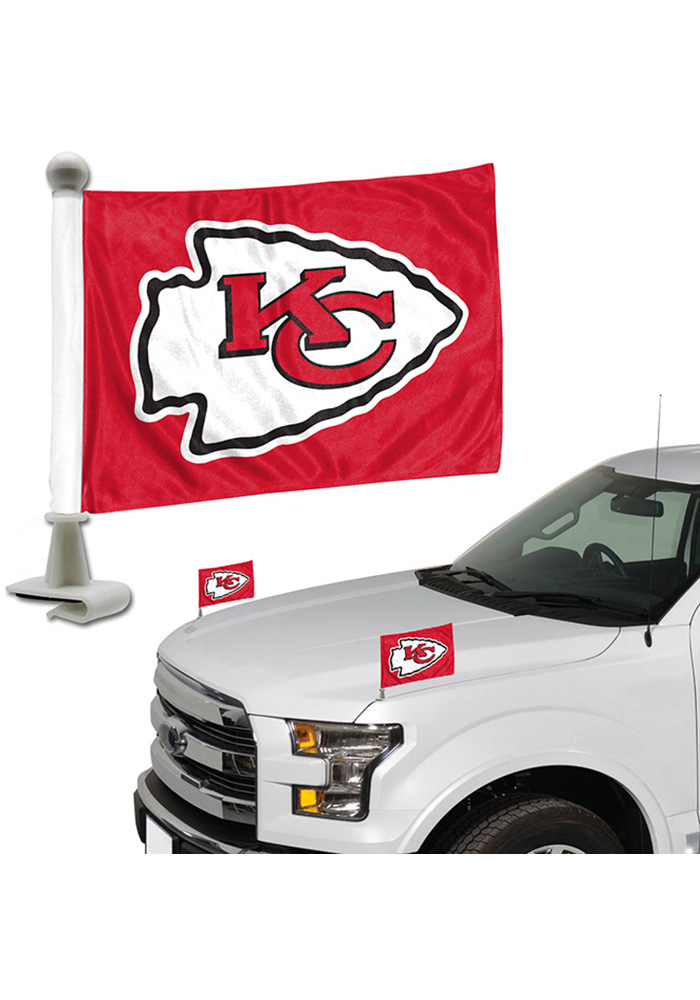 Sports Licensing Solutions Kansas City Chiefs Team Ambassador 2-Pack Car Flag - Red - Image 1