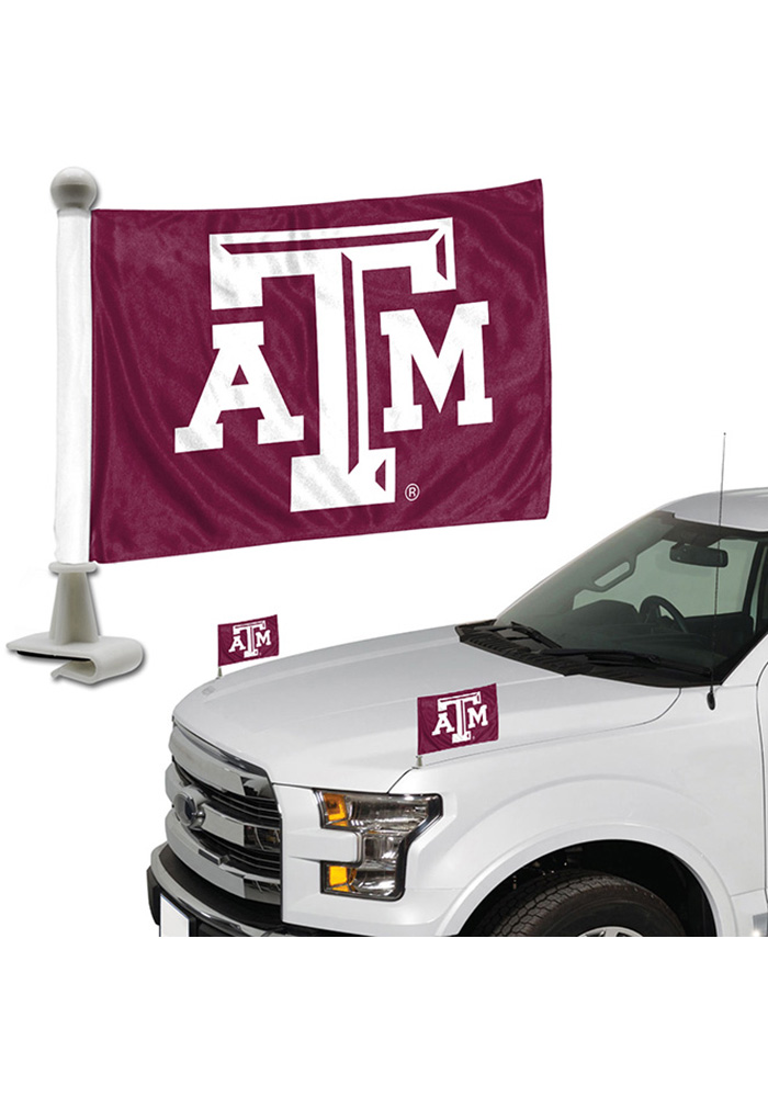 Sports Licensing Solutions Texas A&M Aggies Team Ambassador 2-Pack Car Flag - Maroon - Image 1