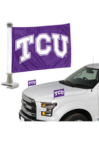 Sports Licensing Solutions TCU Horned Frogs Team Ambassador 2-Pack Car Flag - Purple