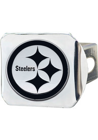 Pittsburgh Steelers Chrome Car Accessory Hitch Cover