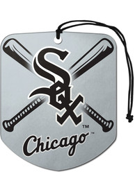 Chicago White Sox Sports Licensing Solutions 2 Pack Shield Car Air Fresheners - Black