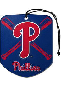 Philadelphia Phillies Sports Licensing Solutions 2 Pack Shield Car Air Fresheners - Red