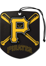 Pittsburgh Pirates Sports Licensing Solutions 2 Pack Shield Car Air Fresheners - Yellow