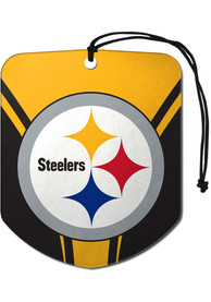 Pittsburgh Steelers Sports Licensing Solutions 2pk Shield Car Air Fresheners - Yellow