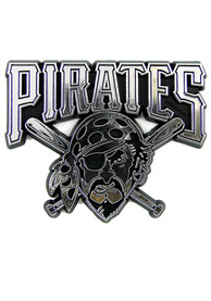 Sports Licensing Solutions Pittsburgh Pirates Plastic Car Emblem - Silver