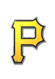 Sports Licensing Solutions Pittsburgh Pirates Aluminum Car Emblem - Yellow