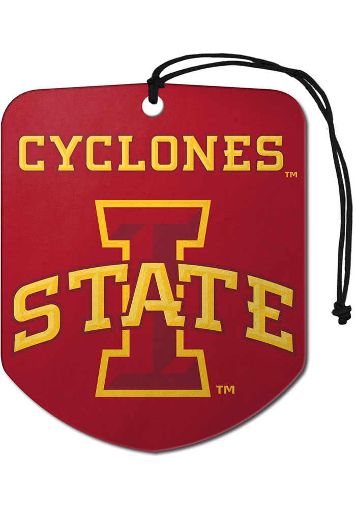 Sports Licensing Solutions Iowa State Cyclones 2 Pack Shield Auto Air Fresheners - Red - Image 1