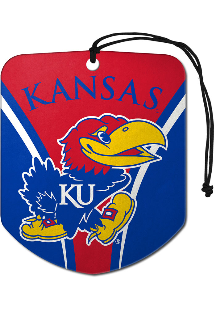 Sports Licensing Solutions Kansas Jayhawks 2 Pack Shield Auto Air Fresheners - Blue - Image 1