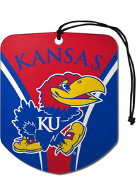 Kansas Jayhawks Sports Licensing Solutions 2 Pack Shield Car Air Fresheners - Blue