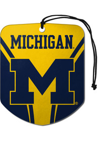 Michigan Wolverines Sports Licensing Solutions 2 Pack Shield Car Air Fresheners - Navy Blue