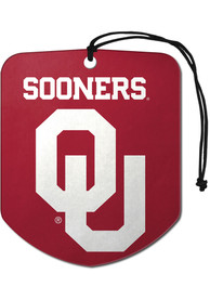 Oklahoma Sooners Sports Licensing Solutions 2 Pack Shield Car Air Fresheners - Red