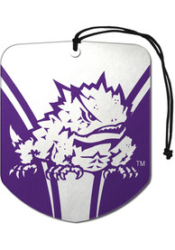 TCU Horned Frogs Sports Licensing Solutions 2 Pack Shield Car Air Fresheners - Purple