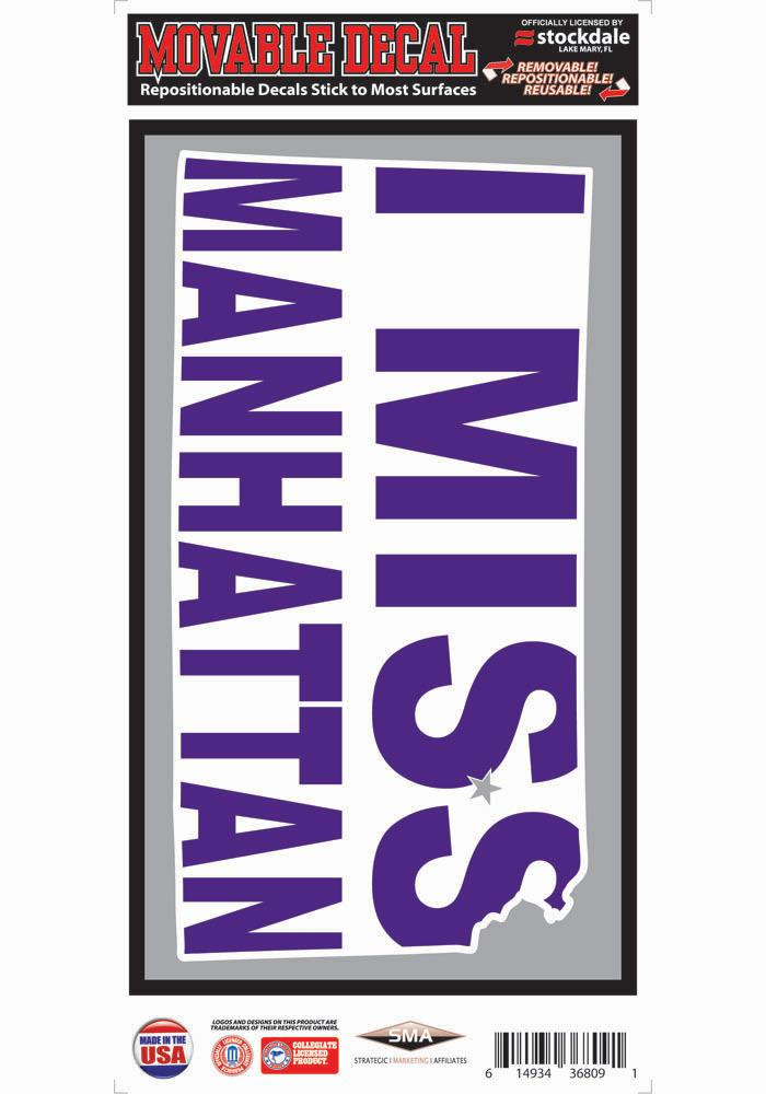 K-State Wildcats 6x12 I Miss Manhattan Decal - Image 1