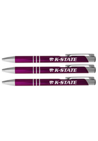 K-State Wildcats 3 Pack Ball Point Pen