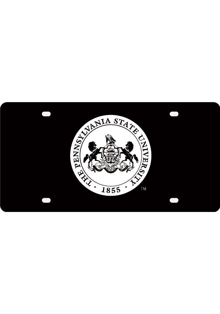 Penn State Nittany Lions Silver School Seal Car Accessory License Plate - Image 1
