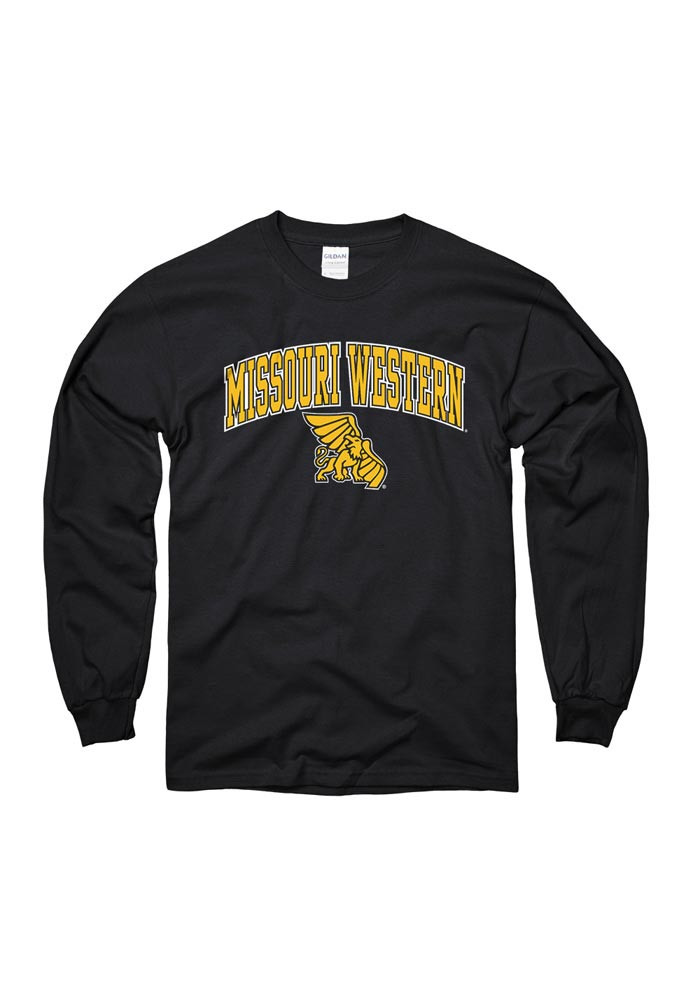 Missouri Western Griffons Mens Black Arch Long Sleeve T Shirt - Image 1