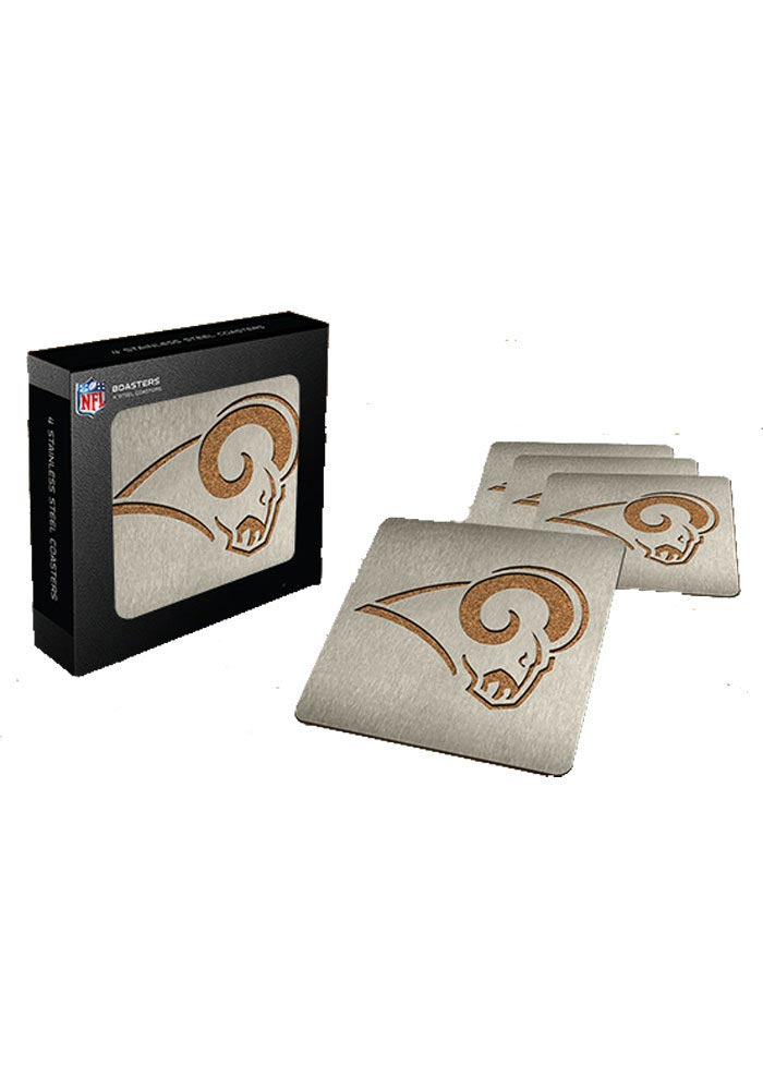 Los Angeles Rams 4pk Stainless Steel Coaster - Image 1