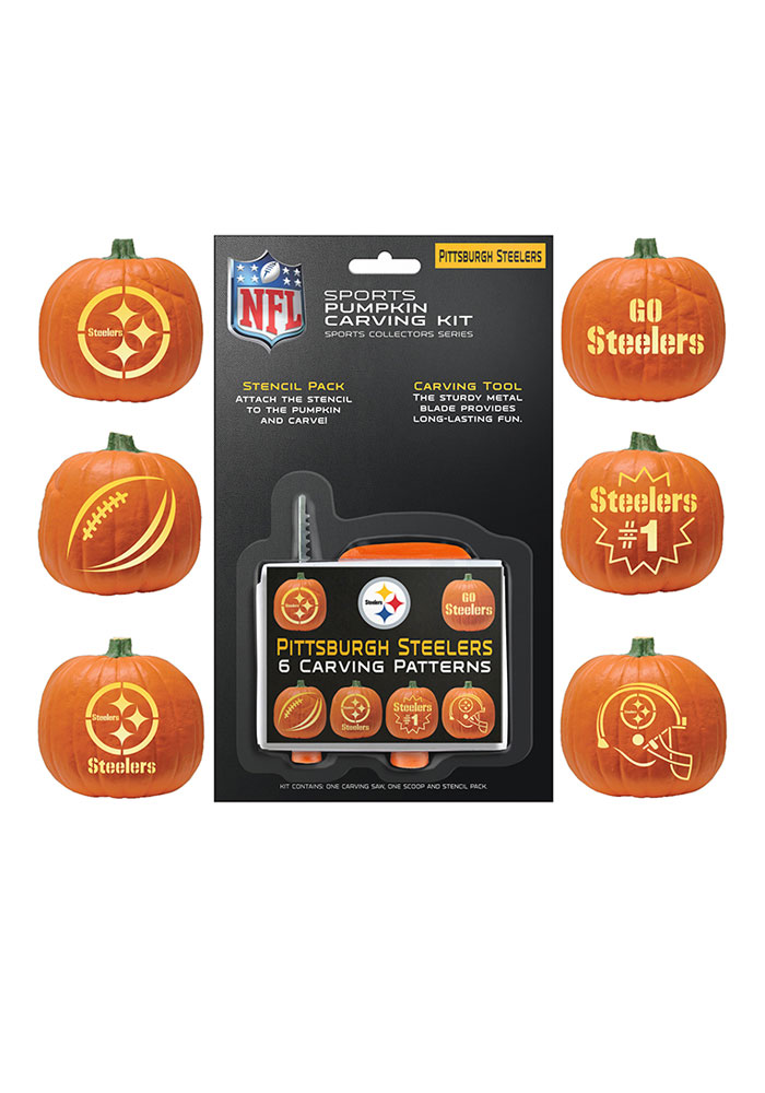 Pittsburgh Steelers Carving Kit Pumpkin - Image 1