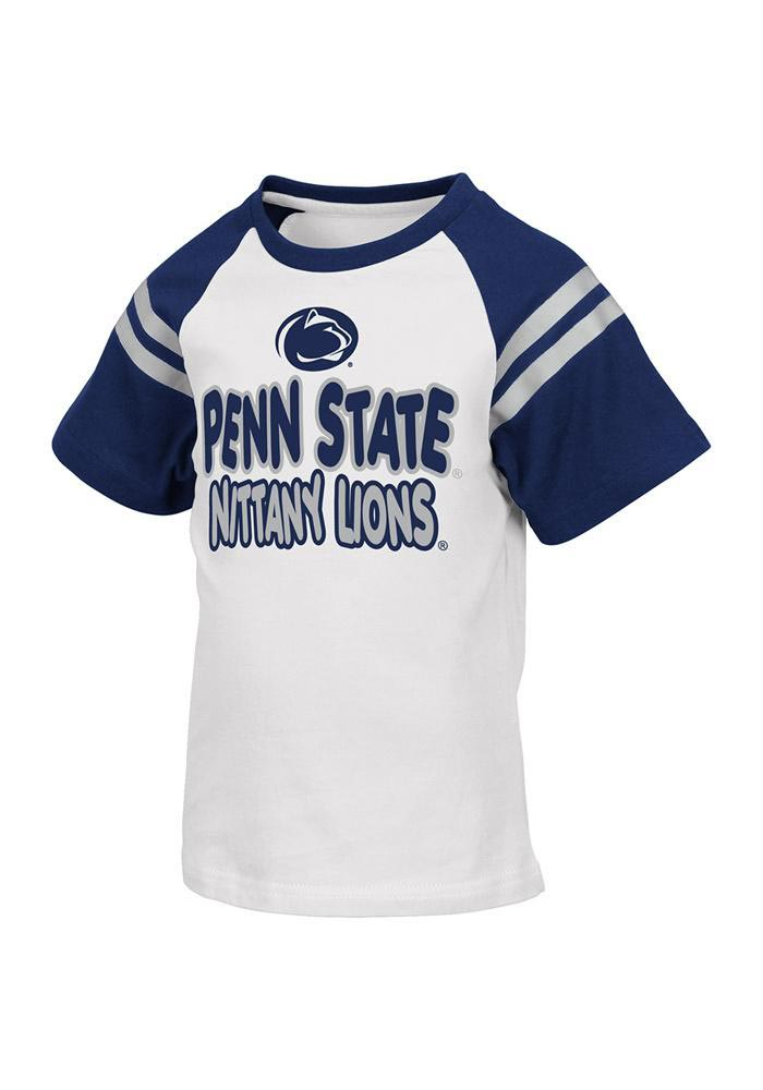Colosseum Penn State Nittany Lions Toddler White Mariners Short Sleeve T-Shirt - Image 1