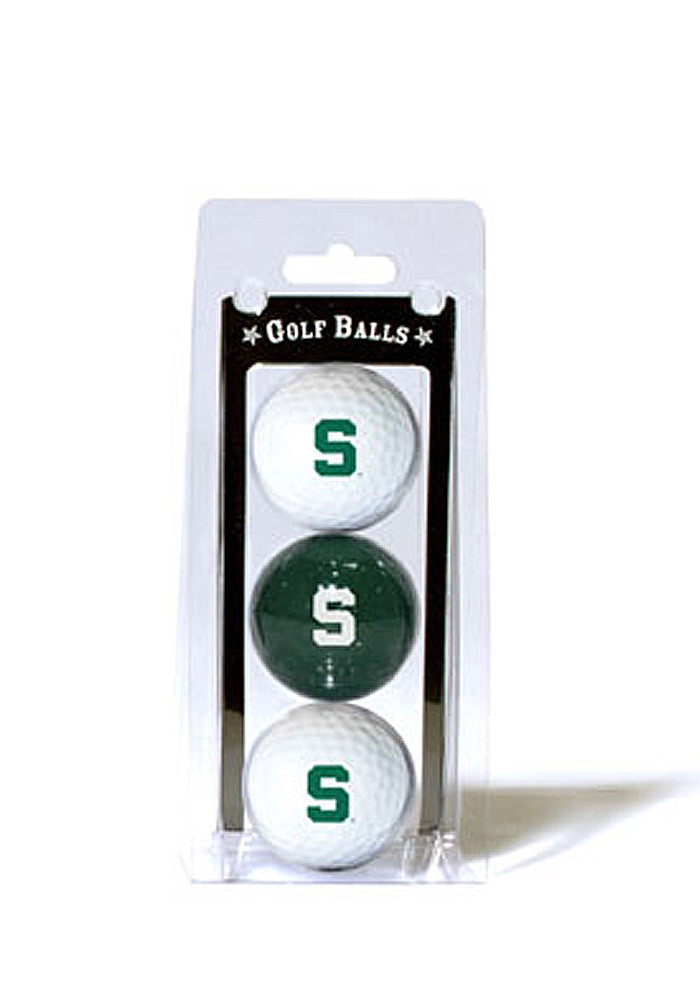 Michigan State Spartans 3 Pack Golf Balls - Image 1