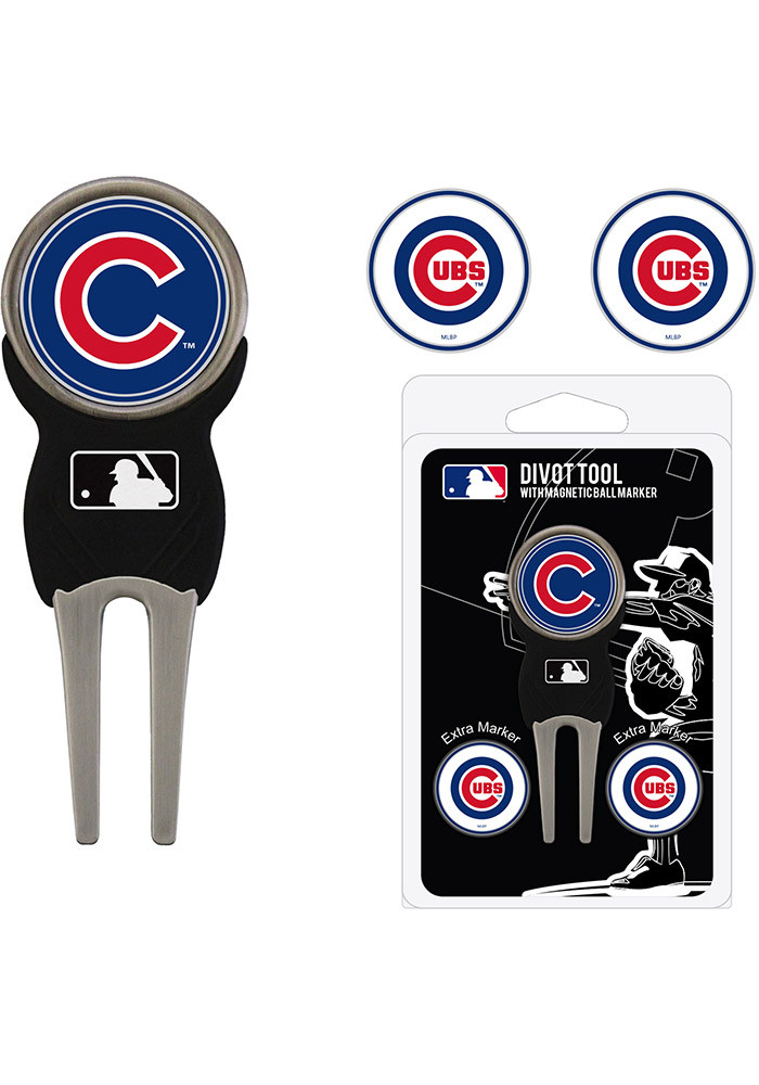 Chicago Cubs 3 Pack Ball Marker Divot Tool - Image 1
