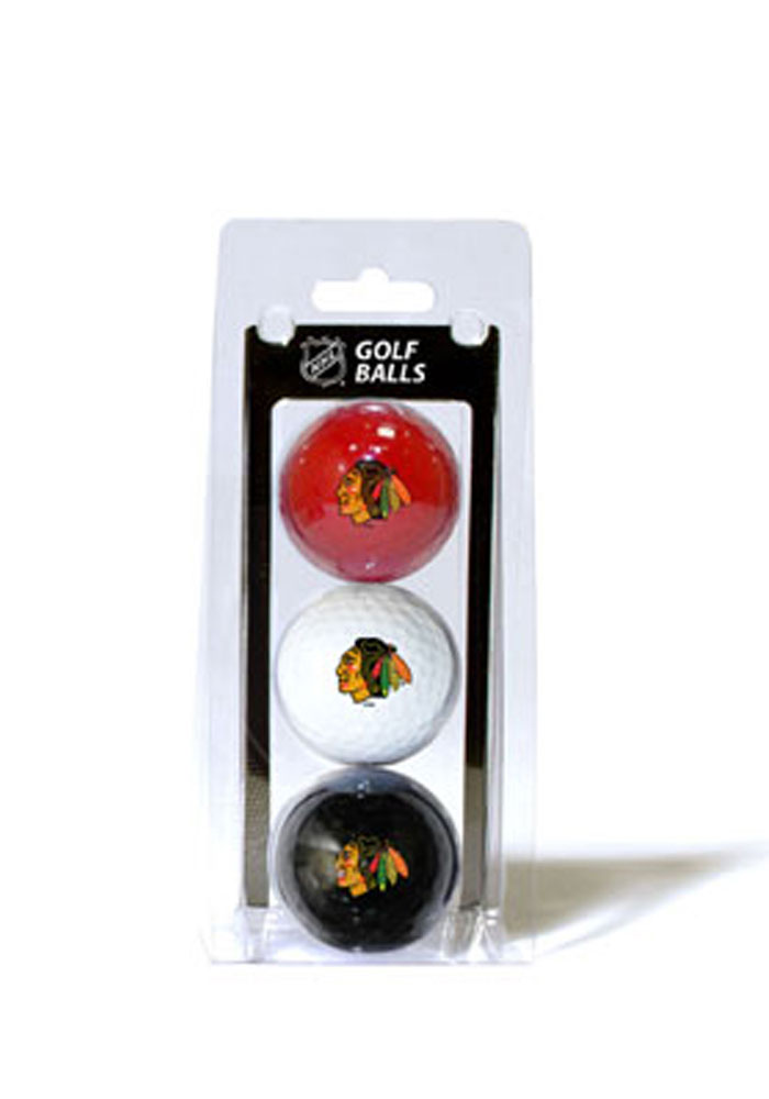 Chicago Blackhawks 3 Pack Golf Balls - Image 1