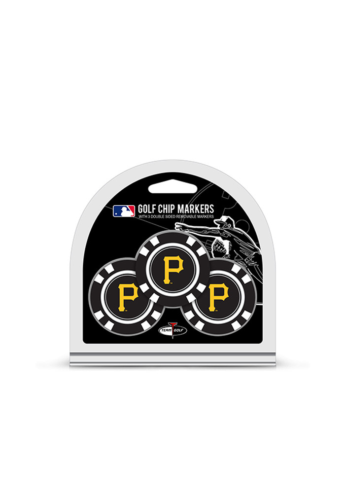 Pittsburgh Pirates 3 Pack Poker Chip Golf Ball Marker - Image 1