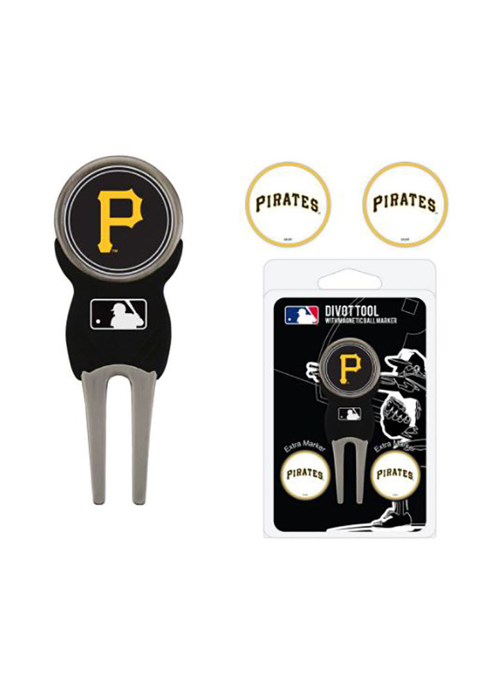Pittsburgh Pirates 3 Pack Ball Marker Divot Tool - Image 2