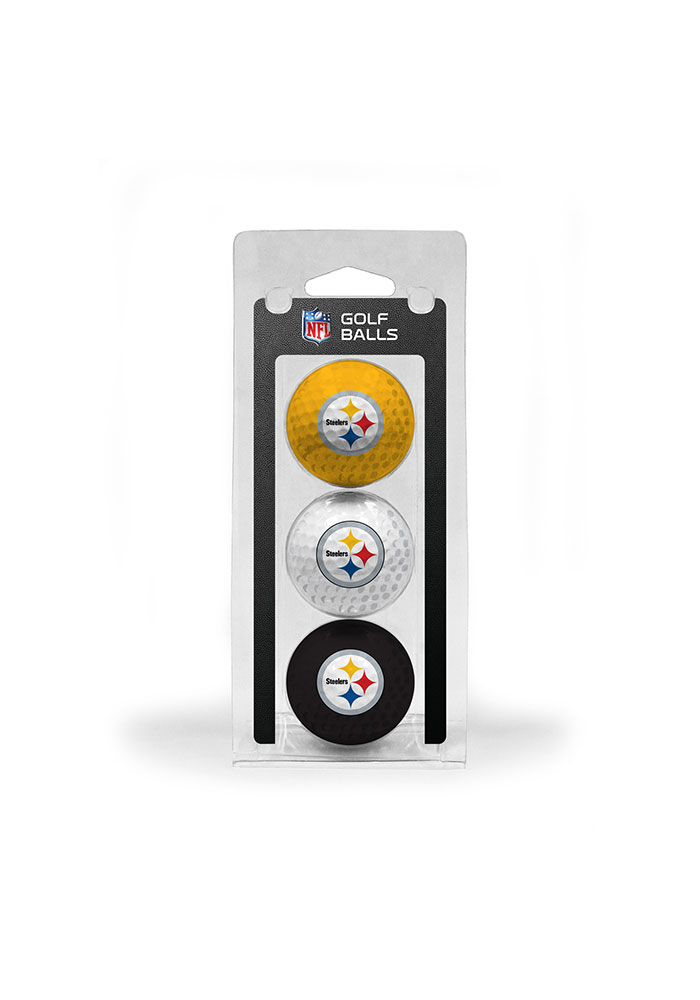 Pittsburgh Steelers 3 Pack Golf Balls - Image 1