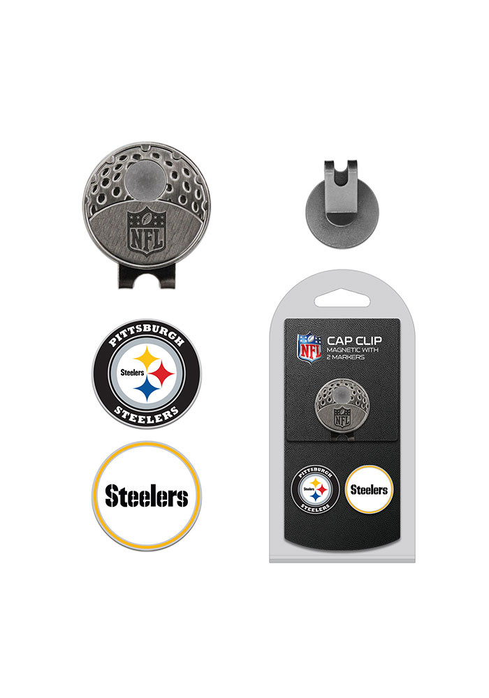Pittsburgh Steelers 2 Ball Marker Cap Clip - Image 1