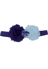 K-State Wildcats Baby Flower Hair Ribbons - Purple