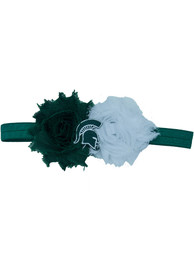 Michigan State Spartans Baby Flower Hair Ribbons - Green
