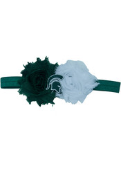 Michigan State Spartans Flower Baby Hair Ribbons