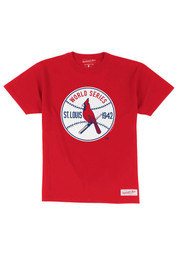 Mitchell and Ness St Louis Cardinals Red Retro Fashion Tee