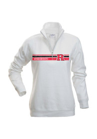 Rutgers Scarlet Knights Womens Aspen White 1/4 Zip Pullover