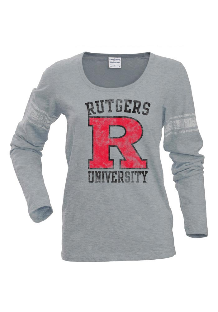 Rutgers Juniors Grey Autumn Long Sleeve Scoop Neck - Image 1