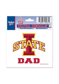 Iowa State Cyclones 3x4 Dad Auto Decal - Cardinal