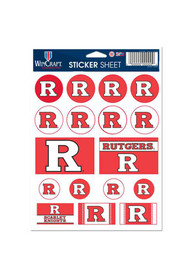 Rutgers Scarlet Knights 5x7 Sheet of Stickers