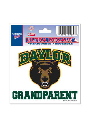 Baylor Bears 3x4 Grandparent Decal